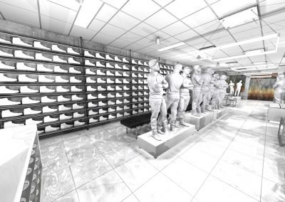 Sneaker Corner 2-Shoe Wall Back